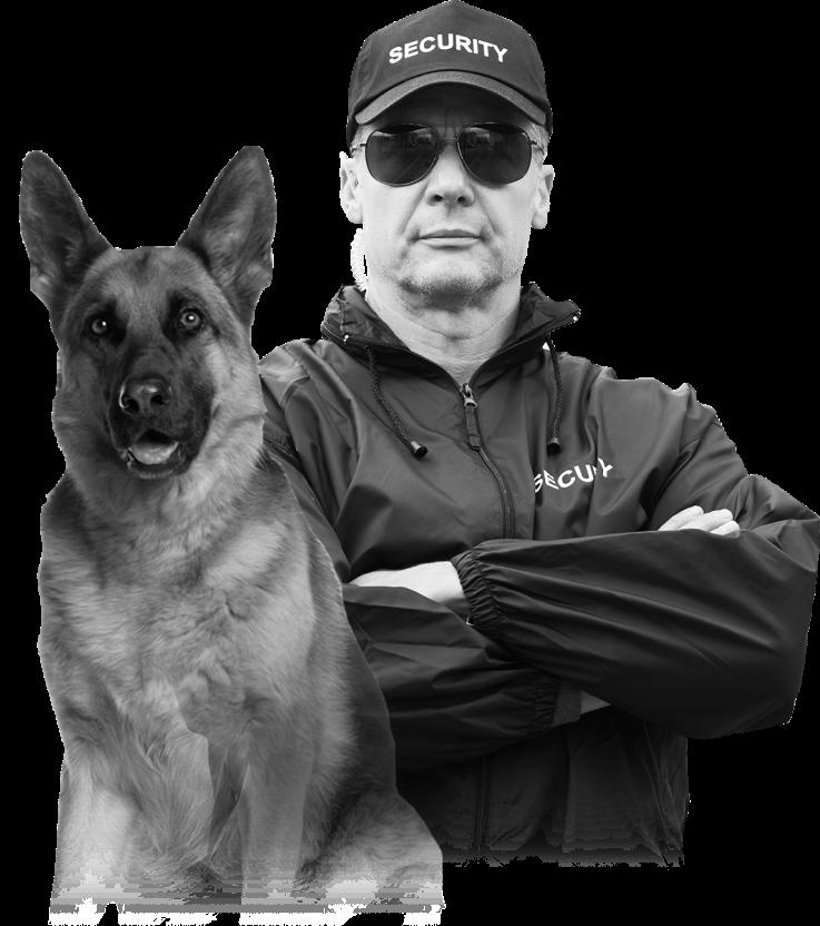 Охрана с собакой К9 в Париже и Ницце